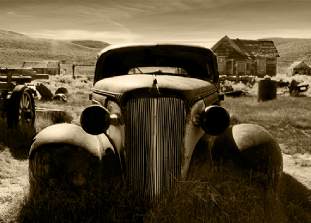 Old car - srcap wall murals